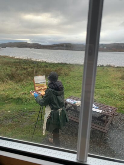 Brooke Painting in Scotland