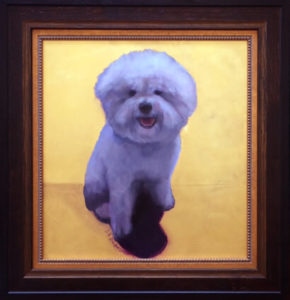 Louie pet portrait painting by S. Brooke Anderson