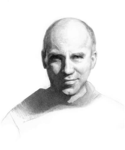 Thomas Merton portrait painting by S. Brooke Anderson