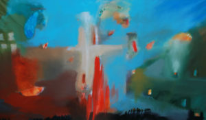 Messiah abstract painting by S. Brooke Anderson