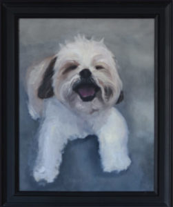 Norman pet portrait painting by S. Brooke Anderson