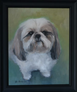 Willow pet portrait painting by S. Brooke Anderson
