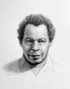 Lawrence Hill portrait painting by S. Brooke Anderson