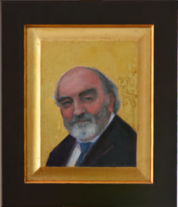 Dr. Michael W. Higgins portrait painting by S. Brooke Anderson