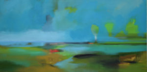 Marshland painting by S. Brooke Anderson