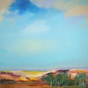 Mediterranean Harvest landscape painting by S. Brooke Anderson