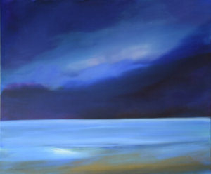 Moon Bay landscape painting by S. Brooke Anderson