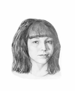 Natasha portrait painting by S. Brooke Anderson