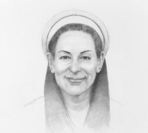Rabbi Laura portrait painting by S. Brooke Anderson