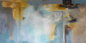 Stations abstract painting by S. Brooke Anderson