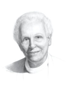 Sister Sue Mostellar portrait painting by S. Brooke Anderson