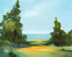 View From the Ridge landscape painting by S. Brooke Anderson