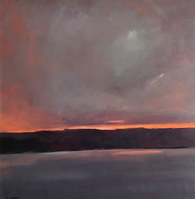 River Glow landscape painting